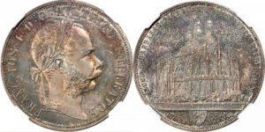 オーストリア クッテンベルク鉱山再開記念 2フローリン銀貨