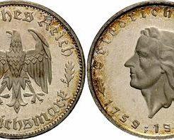 ナチスドイツ2マルク銀貨