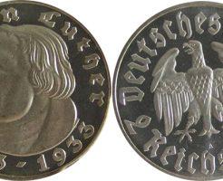 ナチスドイツの2マルク銀貨