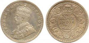 ジョージ5世のルピー銀貨