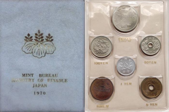 Coin Mint Set 1972 Japan 6