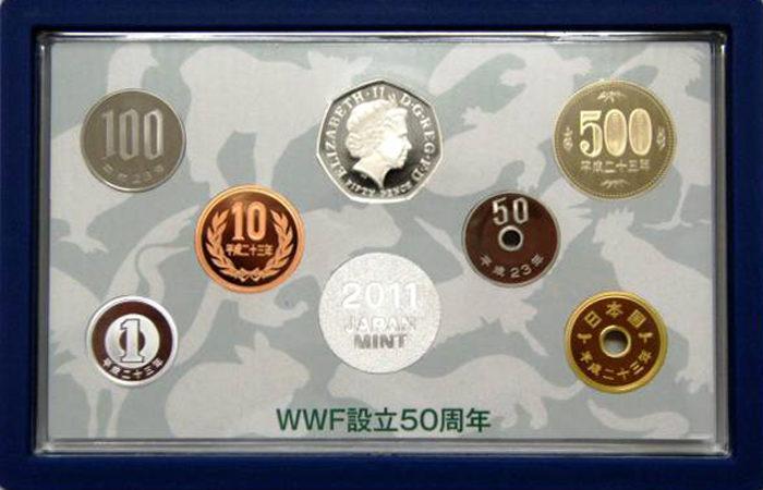 WWF設立50周年 日本・イギリス2011プルーフ貨幣セット
