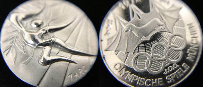 ミュンヘンオリンピック記念プラチナメダル