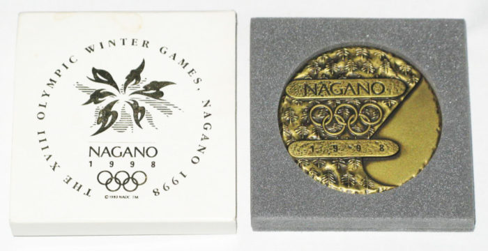 長野オリンピック参加記念メダル
