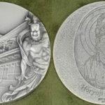 国宝章牌 法隆寺 純銀メダル