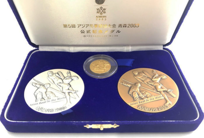 第5回アジア冬季競技大会青森2003公式記念メダル
