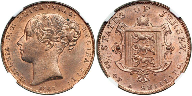 英領ジャージーのビクトリアシリング銅貨の価値