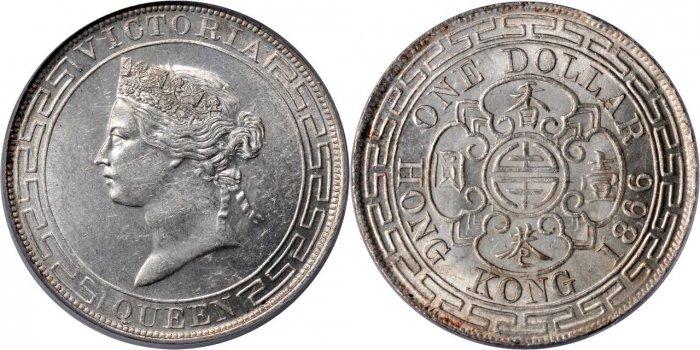 英国領香港の1ドル銀貨の価値