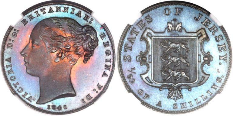 英領ジャージーのビクトリアのプルーフ貨の価値