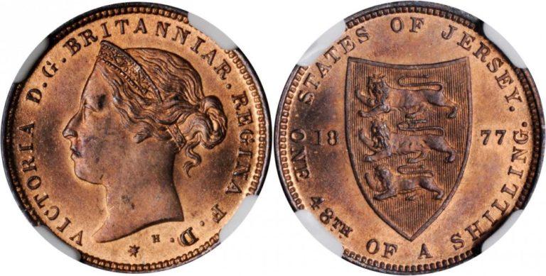 英領ジャージーのビクトリアシリング青銅貨の価値