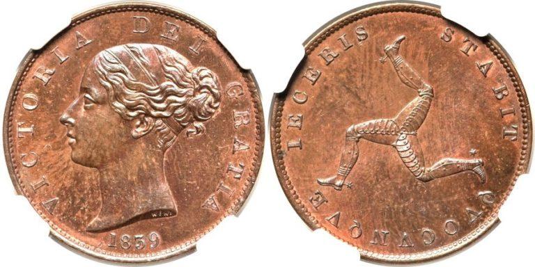 英国マン島のビクトリアのコインの価値