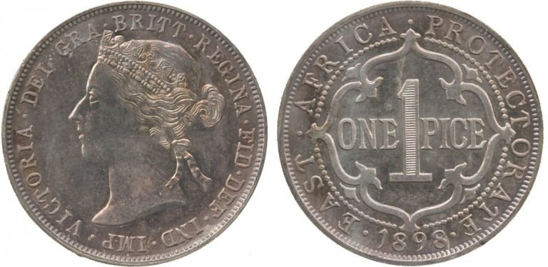 英国領東アフリカのビクトリアコインの価値