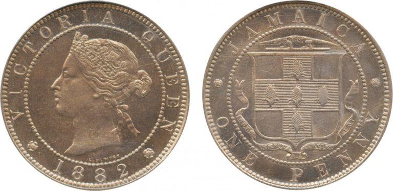 英国領ジャマイカのビクトリア コインの価値