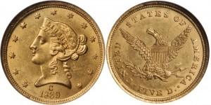 コロネット5ドル金貨
