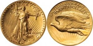 1907年ハイレリーフ金貨