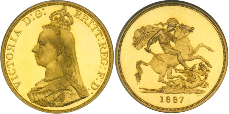 オーストラリアのビクトリア5ポンド金貨の価値