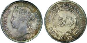 海峡植民地の50セント銀貨の価値