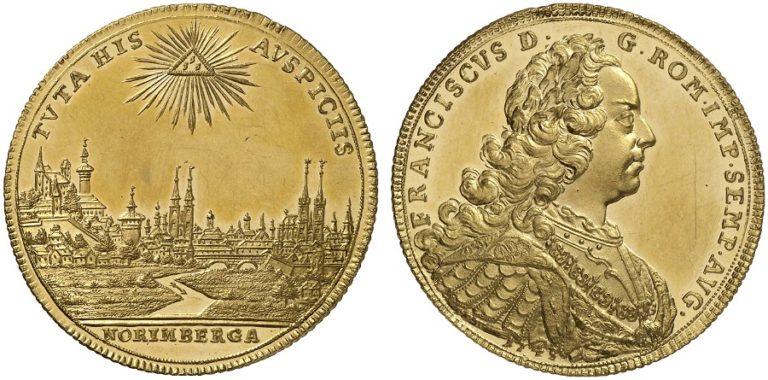 ニュルンベルク フランツ1世の都市景観6ダカット金貨の価値