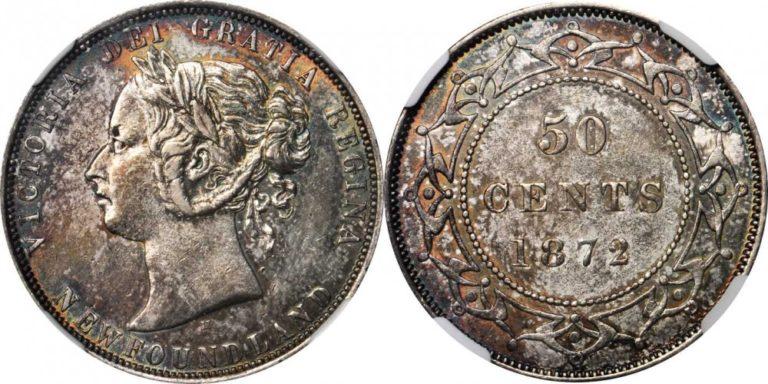 カナダ ニューファンドランドの50セント銀貨の価値