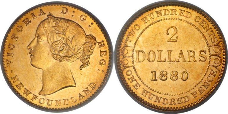カナダ ニューファンドランドの2ドル金貨の価値と買取相場