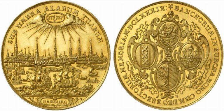 ドイツハンブルクの17世紀10ダカット金貨の価値