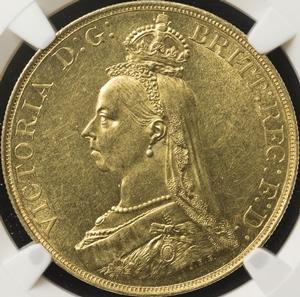 ビクトリア5ポンド金貨