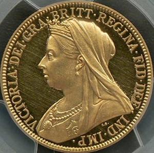 ヴィクトリアプルーフ金貨