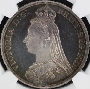 ビクトリアプルーフ銀貨