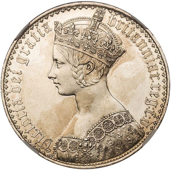 1847年ヴィクトリアのゴチッククラウン銀貨の価値