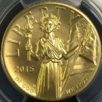 2015ハイレリーフ金貨