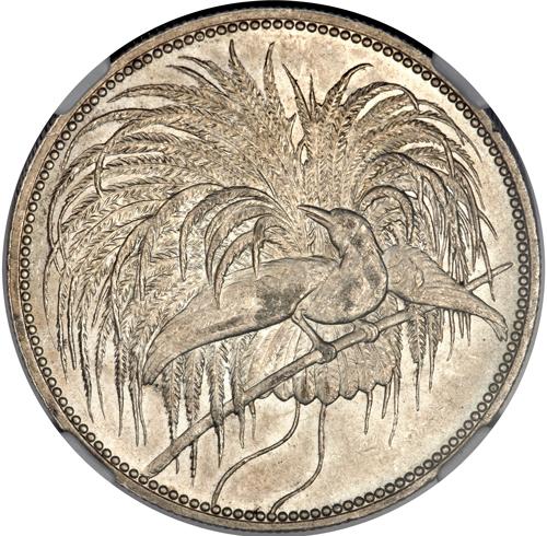 ドイツ領ニューギニア極楽鳥5マルク銀貨
