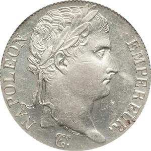 百日天下ナポレオン1世の5フラン銀貨