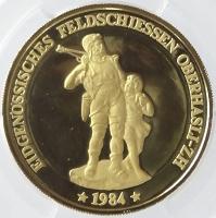1984年スイス オーバーハスリ射撃祭(Oberhasli)1000フラン金貨の価値