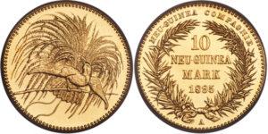 1895年ニューギニア極楽鳥10マルク金貨