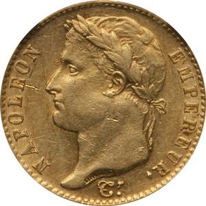 百日天下ナポレオン1世の20フラン金貨