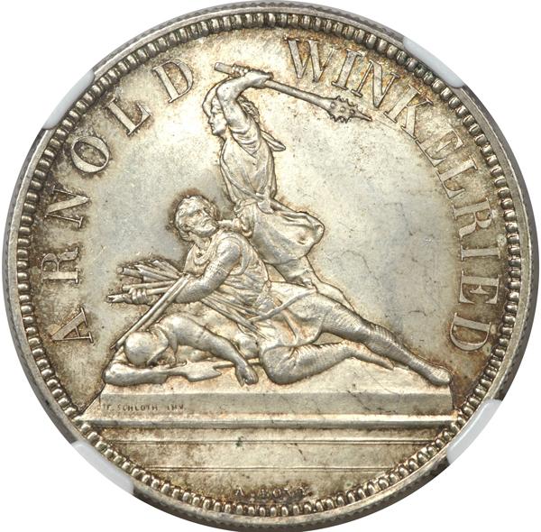 1861年射撃祭ニトヴァルデン5フラン銀貨の価値と買取相場