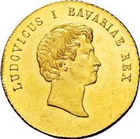 1830年ルートヴィヒ1世都市景観ダカット金貨