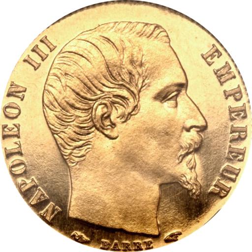 ナポレオン3世5フラン金貨の価値と買取相場