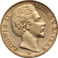 ルートヴィヒ2世20マルク金貨の価値と買取相場