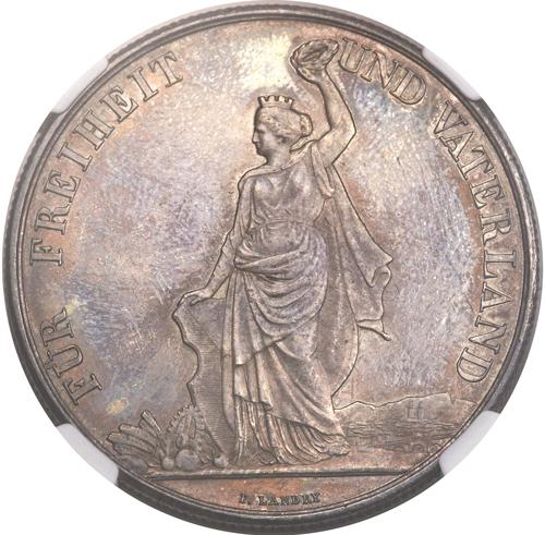 1872年スイス射撃祭チューリッヒ5フラン銀貨の価値と買取相場