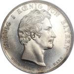 1826年ルートヴィヒ1世死去追悼記念ターラー銀貨