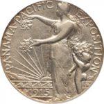 1915年サンフランシスコ・パンパシフィック博覧会50セント銀貨