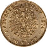 ルートヴィヒ2世20マルク金貨