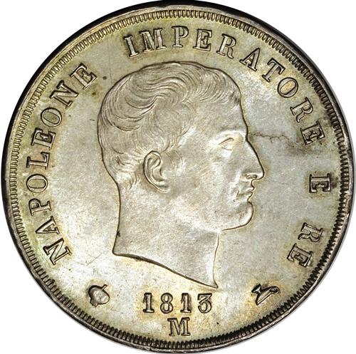 イタリア ナポレオン王国5リレ銀貨の価値と買取相場