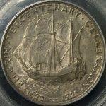 米国 アメリカ ピルグリム 300周年 50セント 銀貨