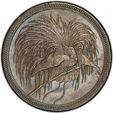1894年極楽鳥10ペニヒ銅貨の価値