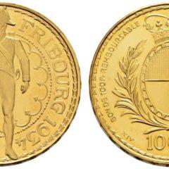 射撃祭フライブルク100フラン金貨
