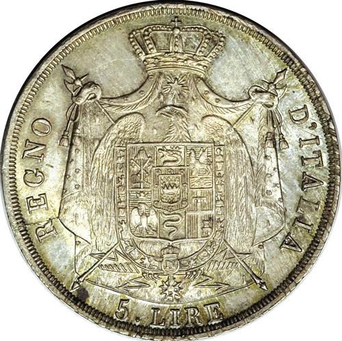 イタリア ナポレオン5リレ銀貨