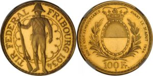 スイス射撃祭金貨