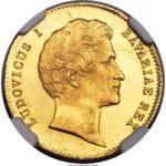 1842年1846年ルートヴィヒ1世都市景観ダカット金貨